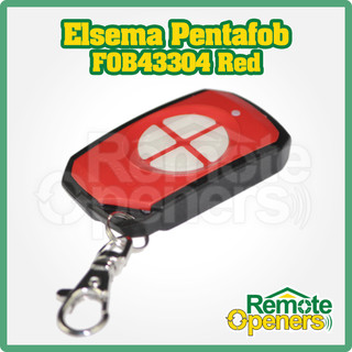 Elsema Pentafob FOB43304 Red 4 Button Wireless Key Fob Remote Control