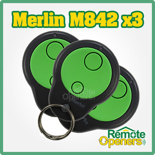3 x Merlin M842 Mini Garage Door Remotes (230T, 430R)