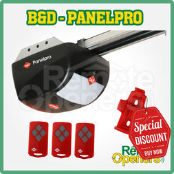 B&D PanelPro  Garage Sectional/Tilt Door Opener w/ steel chain rail