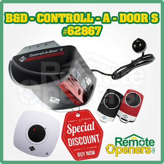 B&D Contoll-A-Door® S Garage Sectional/tilt Door Opener incl. Safety Beam