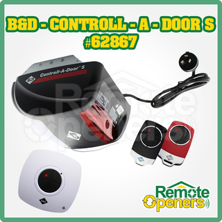 B&D Contoll-A-Door® S Garage Sectional/tilt Door Opener incl. Rechargeable Battery Back-up