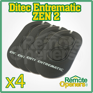 DITEC Entrematic ZEN2  Garage Door Remote x 4