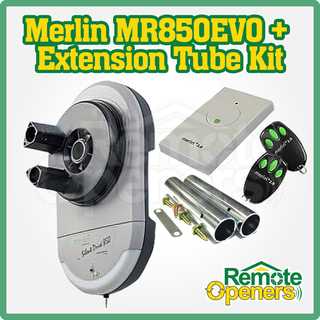 Merlin MR850EVO Silent Drive Garage Roller Door Motor & Extension Tube Kit