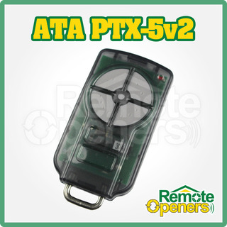 PTX-5v2 Grey Garage Door Remote Control ATA TrioCode 128