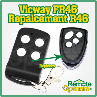 Vicway FR46 Garage Door Remote Control 433MHz Replacement Vicway R46